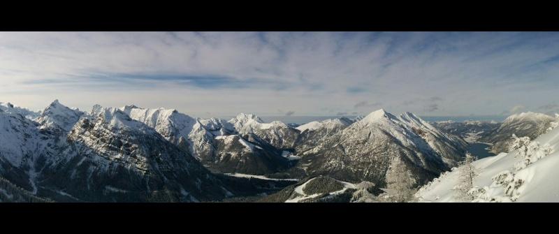 Das Karwendelgebirge im Winter