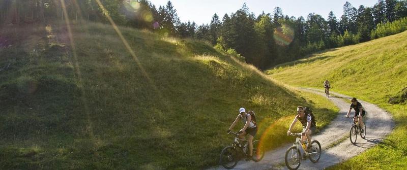 Mountainbike fahren in den Bergen rund um den Achensee