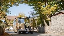 Hochzeitsfahrt mit dem Nostalgiebus