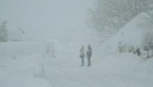Ein Schneegestöber in Pertisau am Achensee