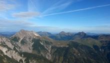 Die Berggipfel des Karwendels