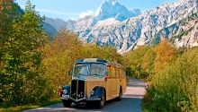 Nostalgiebus in die Karwendeltäler