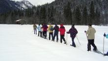 Schneeschuhwanderung in der geführten Gruppe